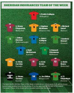 Sheridan Insurances Breffni Allstars Team of the week – Week 2