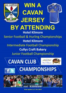Win a Cavan Jersey at Club Championship Games