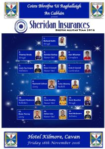 2016 Sheridan Insurances Breffni Allstars Announced