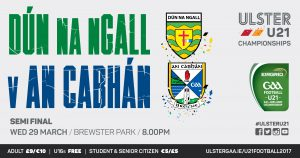 U21 team to play Donegal