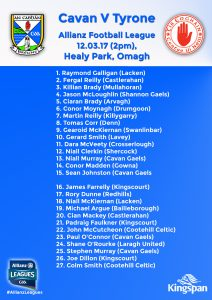 Senior Panel to play Tyrone