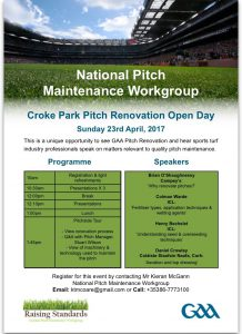 Croke Park Pitch Maintenance Seminar