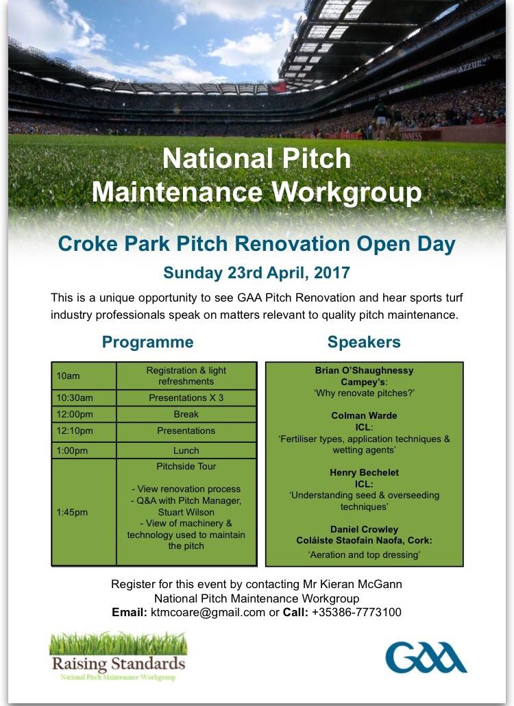 Croke Park Pitch Maintenance Seminar   Cavan GAA