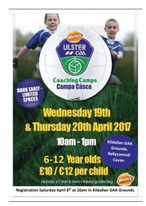 GAA Easter Camp at Kildallan GAA Grounds