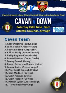Minor Team to play Down