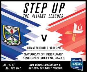 Allianz Football & Hurling Lge Rd 2- Ticket Info
