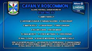 Senior Team to play Roscommon