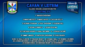 Hurling team to play Leitrim