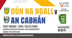 Team News: U20 Panel to play Donegal