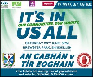Ticket Information: All Ireland SFC Qualifier Cavan v Tyrone