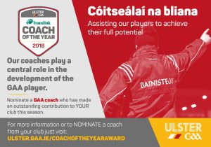 Nominate your Coach of the year