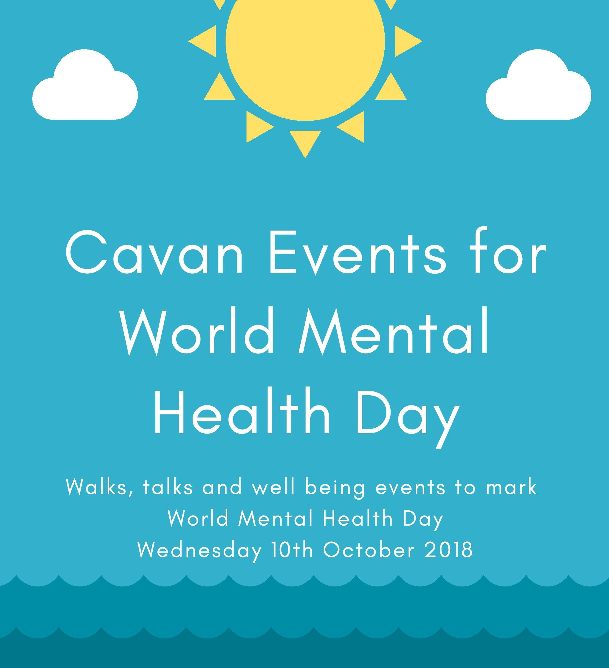 World Mental Health Day – 10th October; events scheduled across Cavan